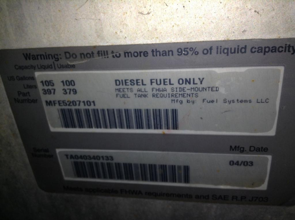 Used Fuel Tank for 2004 STERLING A9513 350.00 for sale-57282161