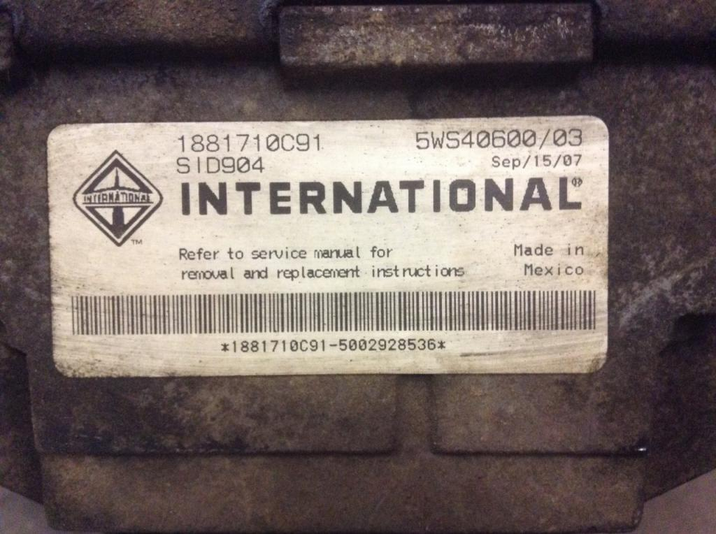 Used Engine Control Module (ECM) for 2008 INTERNATIONAL DURASTAR (4300) 800.00 for sale-57203641