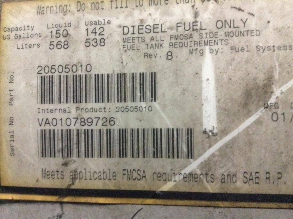 Used Fuel Tank for 2007 VOLVO VNL 450.00 for sale-57282431