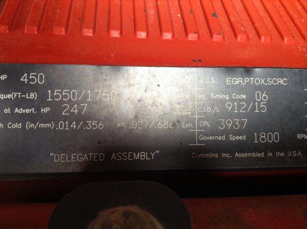 Used Engine Assembly for 2014 KENWORTH T680 15500.00 for sale-57198401