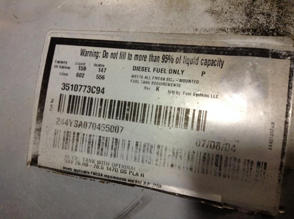 Used Fuel Tank for 2005 INTERNATIONAL 9900 750.00 for sale-57282871