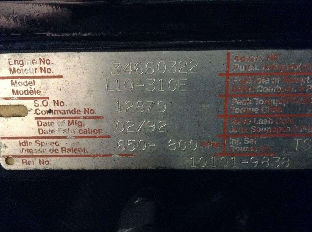 Used Engine Assembly for 1992 VOLVO WIA 4500.00 for sale-57193361