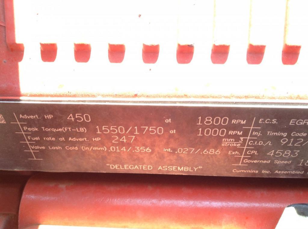 Used Engine Assembly for 2016 INTERNATIONAL PROSTAR 17500.00 for sale-57198521
