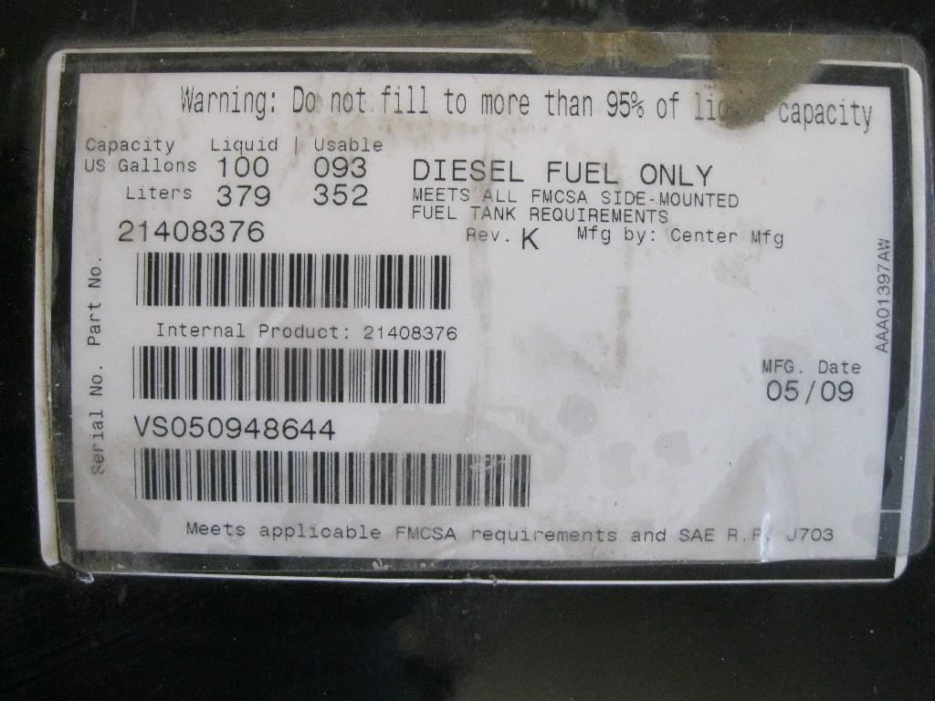 New Fuel Tank for 2009 MACK VISION 300.00 for sale-57278721
