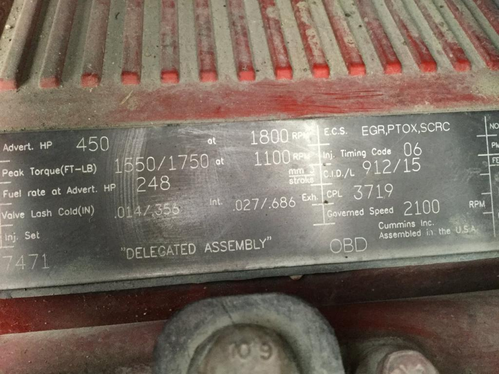 Used Engine Assembly for 2012 KENWORTH T660 14500.00 for sale-57198601