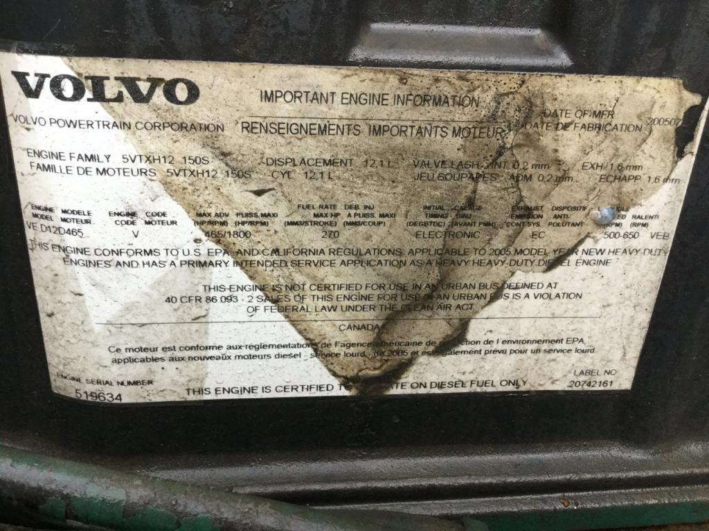 Used Engine Assembly for 2006 VOLVO VNL 4500.00 for sale-57200591
