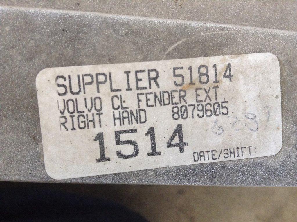 Used Fender for 1998 VOLVO VNL 125.00 for sale-57245841