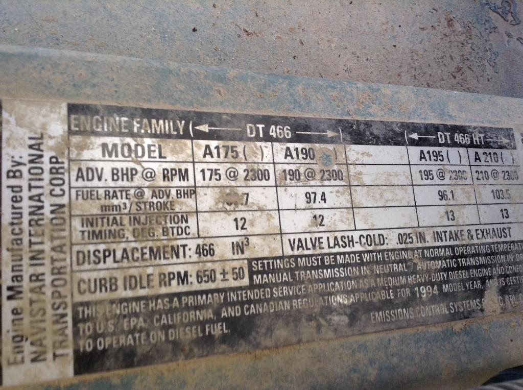 Used Engine Assembly for 1995 INTERNATIONAL 4700 3750.00 for sale-57191571