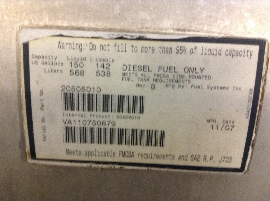 Used Fuel Tank for 2008 VOLVO VNL 650.00 for sale-57279851