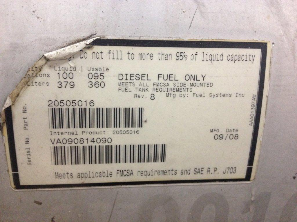 Used Fuel Tank for 2009 VOLVO VNM 750.00 for sale-57280081