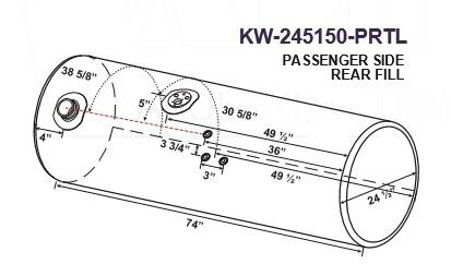 KENWORTH T660 Fuel Tank