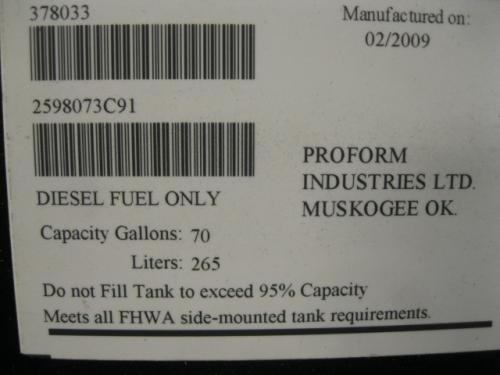 INTERNATIONAL 7600 Fuel Tank