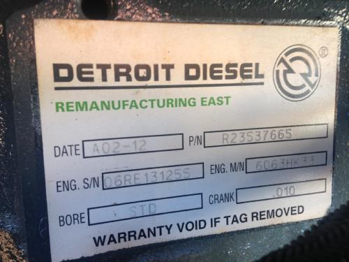 Detroit Series 60 14.0 DDEC IV Engine Assembly