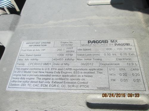 PACCAR MX455T Engine Assembly