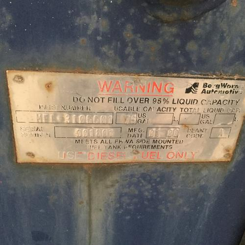 STERLING L7500 SERIES Fuel Tank