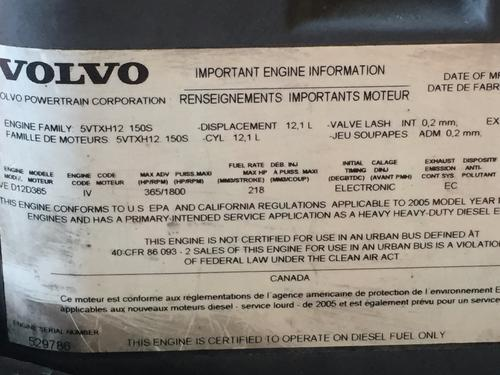 VOLVO VED-12D Engine Assembly