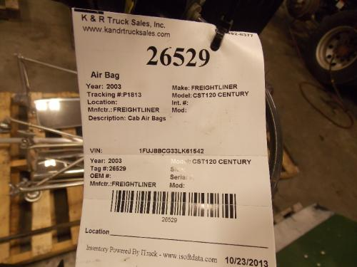 FREIGHTLINER CST120 CENTURY Air Bag (Safety)