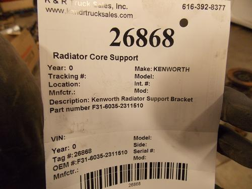 KENWORTH  Radiator Core Support
