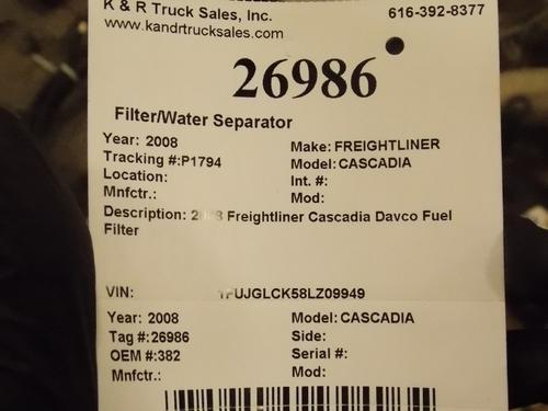 FREIGHTLINER CASCADIA Filter / Water Separator