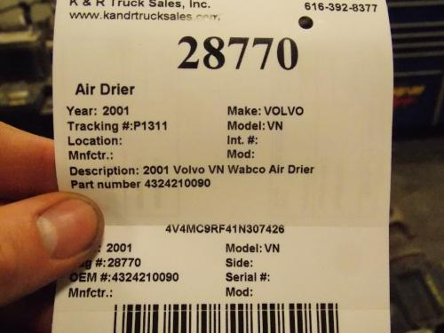 VOLVO VN Air Dryer