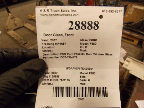 FORD F550 Door Glass, Front