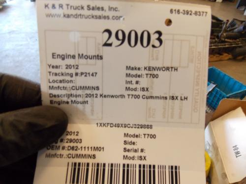 KENWORTH T700 Engine Mounts