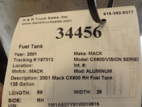 MACK CX600/VISION SERIES Fuel Tank