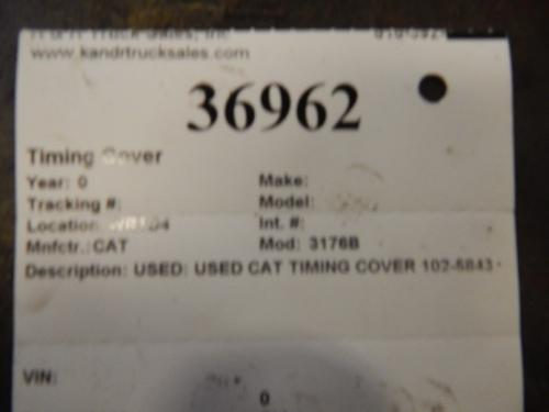 CAT 3176B Front Cover