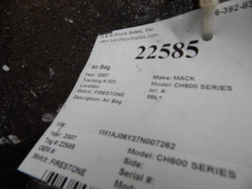 MACK CH600 SERIES Air Bag (Safety)