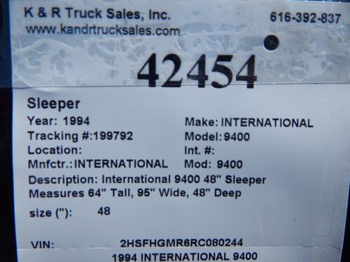 INTERNATIONAL 9400 Sleeper