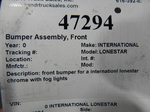 INTERNATIONAL LONESTAR Bumper Assembly, Front